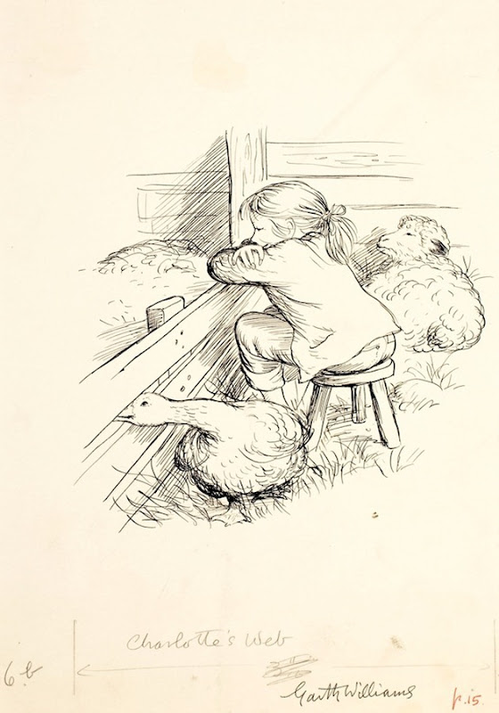 Original Illustrations Of Charlotte S Web Amusing Planet